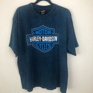 Harley-Davidson Alaska blue t-shirt size Large
